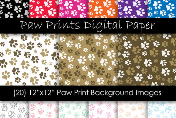 Paw Print Patterns Graphic Patterns By GJSArt