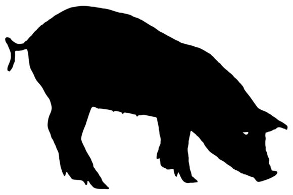 Download Free Pig Silhouette Graphic By Idrawsilhouettes Creative Fabrica for Cricut Explore, Silhouette and other cutting machines.
