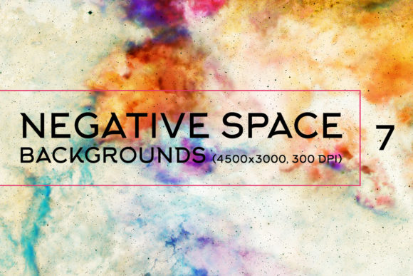 Print on Demand: Negative Space Backgrounds 7 Graphic Backgrounds By freezerondigital