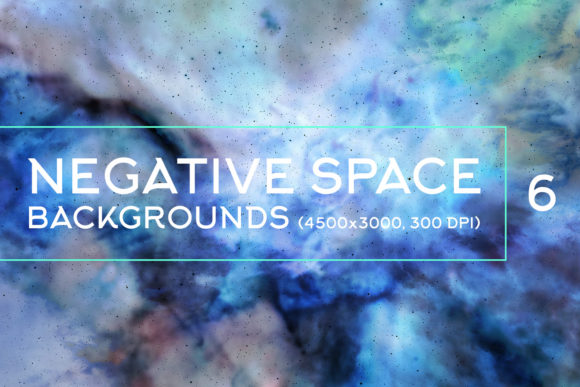Print on Demand: Negative Space Backgrounds 6 Graphic Backgrounds By freezerondigital