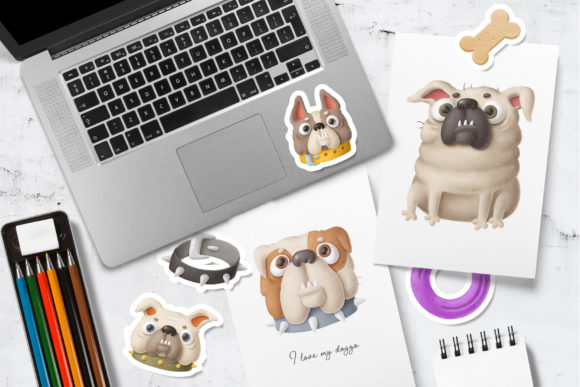 Print on Demand: Dogs Clipart Set 2 Graphic Illustrations By Architekt_AT - Image 2