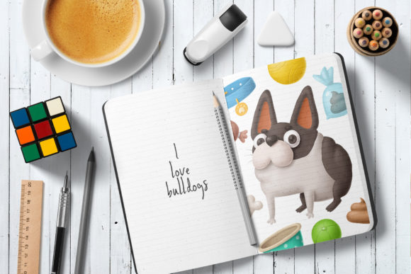 Print on Demand: Dogs Clipart Set 1 Graphic Illustrations By Architekt_AT - Image 4