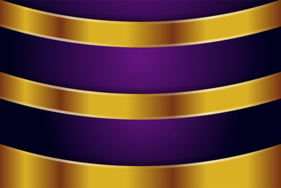 Print on Demand: Purple Gold Background Curve Graphic Backgrounds By noory.shopper