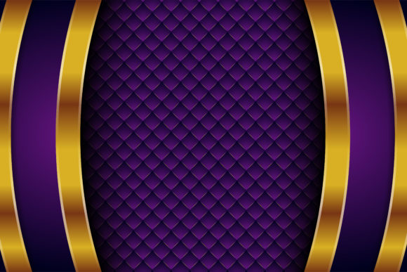 Print on Demand: Purple Gold Background Square Pattern 2 Graphic Backgrounds By noory.shopper