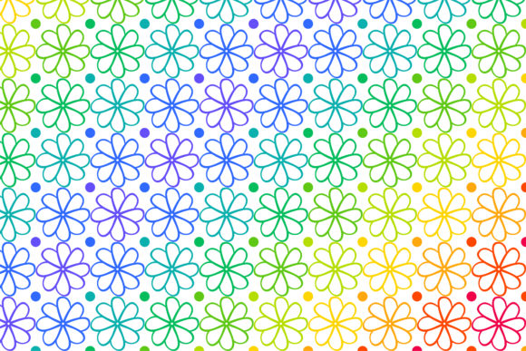 Print on Demand: Rainbow Flower Pattern Graphic Patterns By noory.shopper