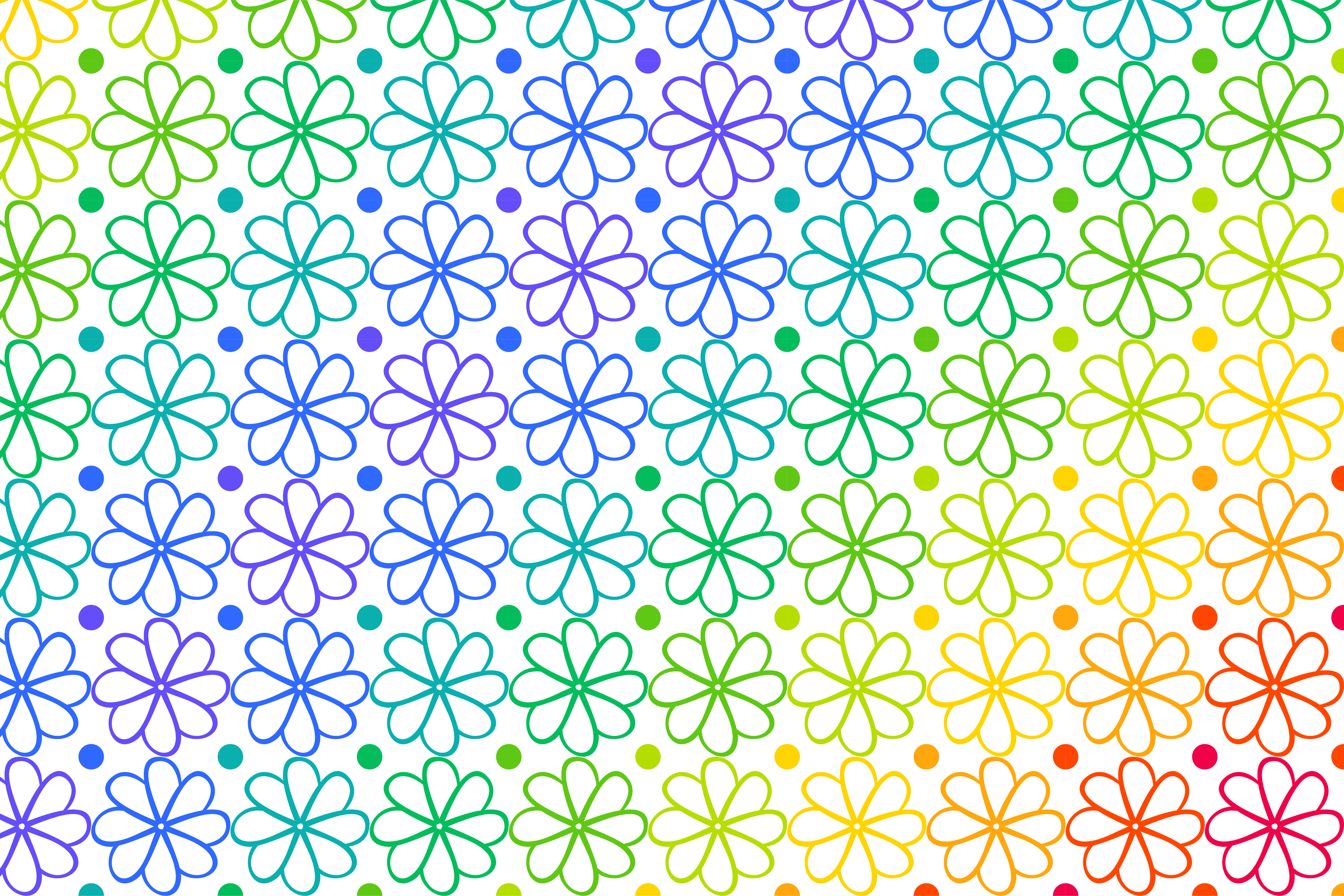 Download Free Rainbow Flower Pattern Graphic By Noory Shopper Creative Fabrica for Cricut Explore, Silhouette and other cutting machines.