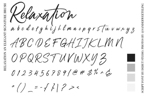 Print on Demand: Relaxation Script & Handwritten Font By Debut Studio - Image 10