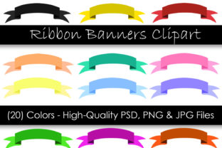 Download Free Ribbon Banner Clipart Digital Clipart Graphic By Gjsart for Cricut Explore, Silhouette and other cutting machines.