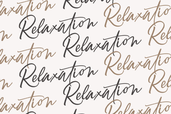 Print on Demand: Relaxation Script & Handwritten Font By Debut Studio - Image 2