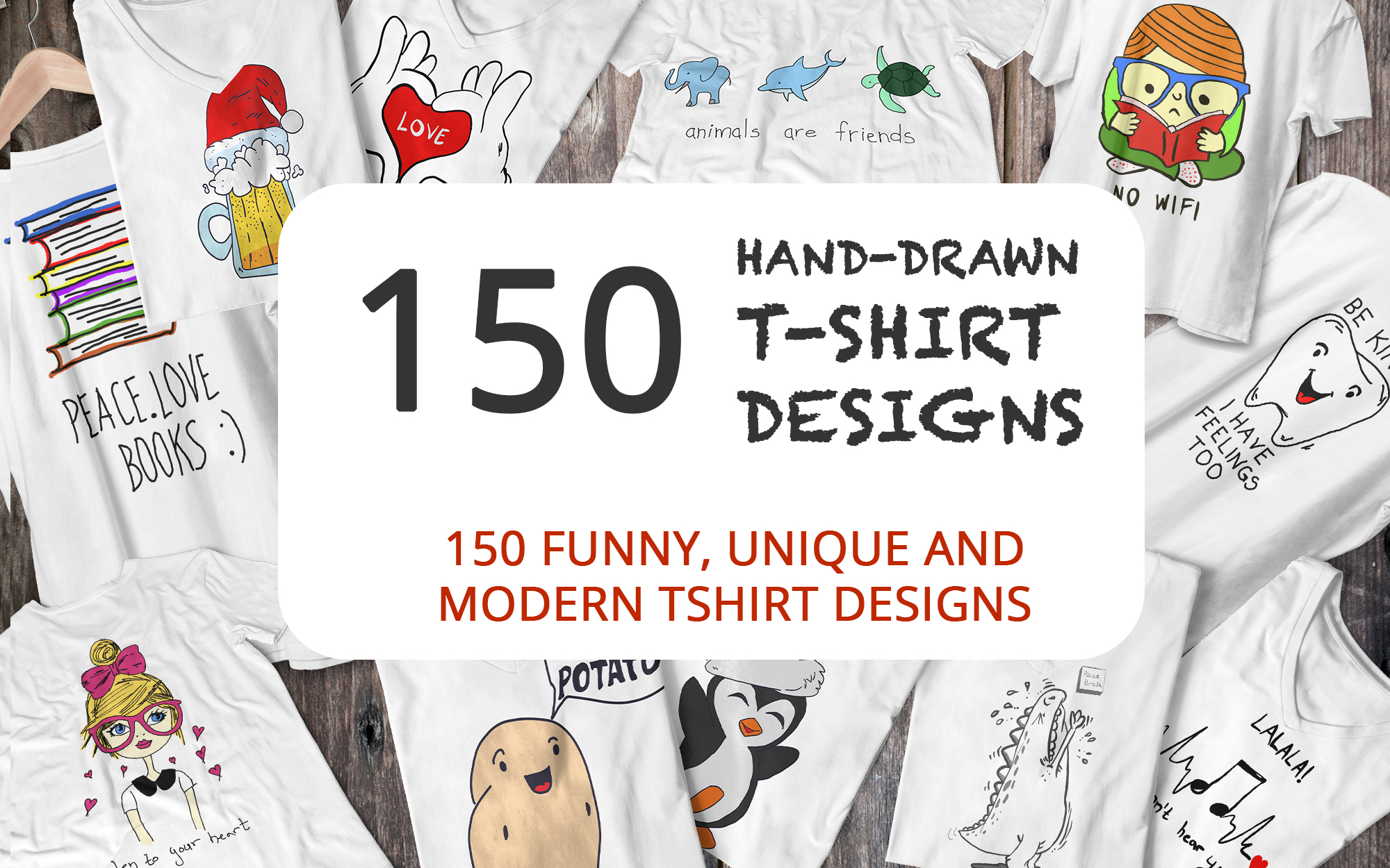 Download Free 150 Hand Drawn Funny And Simple T Shirt Graphic By Elcanziba for Cricut Explore, Silhouette and other cutting machines.