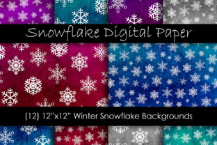 Snowflake Backgrounds - Snow Patterns Graphic Backgrounds By GJSArt 1
