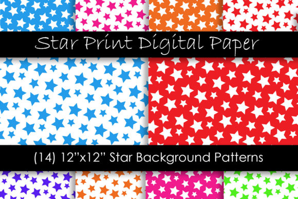 Star Patterns in Multi-Color Graphic Patterns By GJSArt
