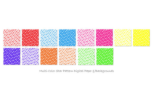 Star Patterns in Multi-Color Graphic Patterns By GJSArt - Image 2