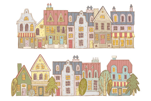 Print on Demand: Old Town Clipart Collection Graphic Illustrations By Architekt_AT - Image 5