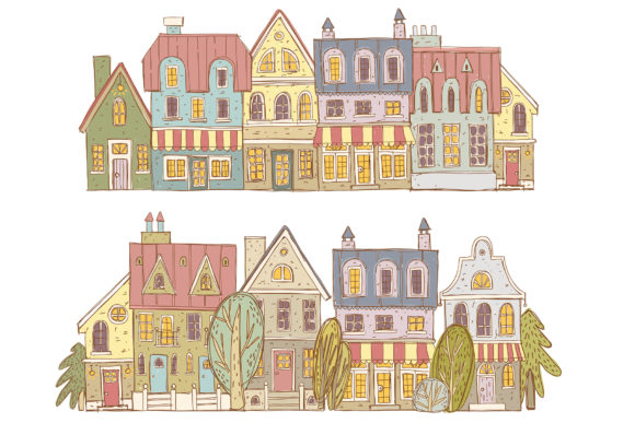 Print on Demand: Old Town Clipart Collection Graphic Illustrations By Architekt_AT - Image 6
