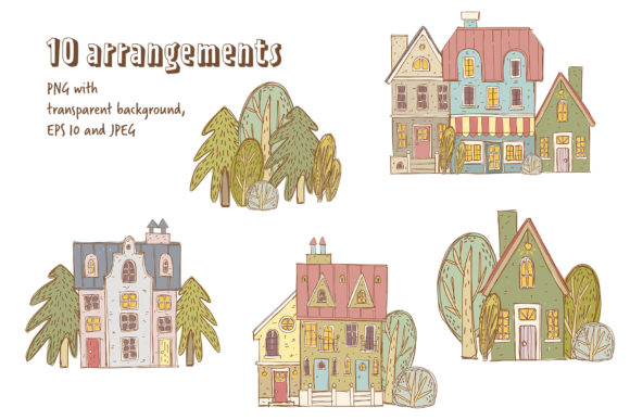 Print on Demand: Old Town Clipart Collection Graphic Illustrations By Architekt_AT - Image 4