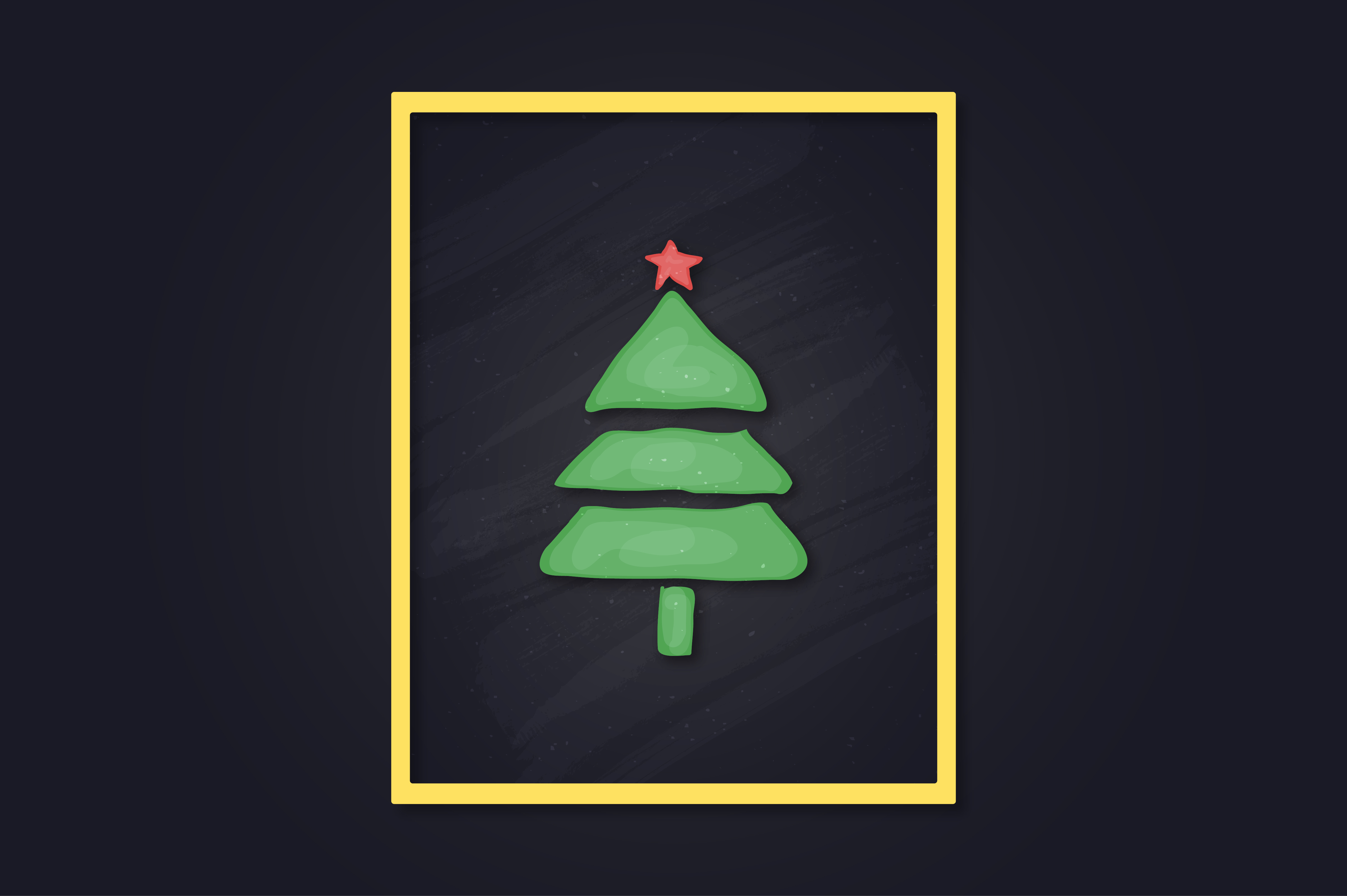 Download Free Christmas Tree Hand Drawn Art Graphic By Richline Design for Cricut Explore, Silhouette and other cutting machines.