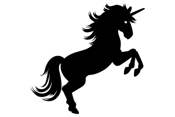 Download Free Unicorn Silhouette Graphic By Idrawsilhouettes Creative Fabrica for Cricut Explore, Silhouette and other cutting machines.
