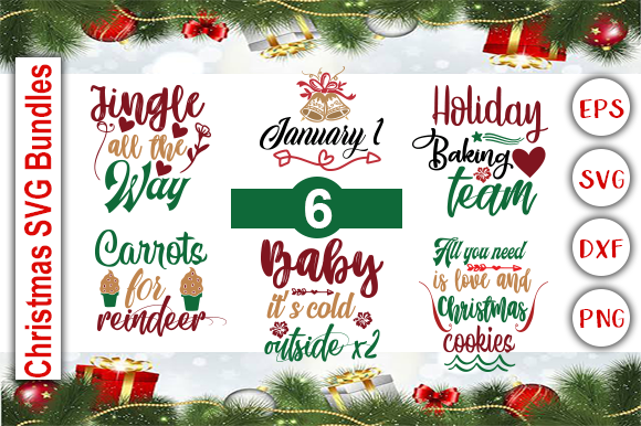 Download Free Christmas Svg Bundle Graphic By Graphics Cafe Creative Fabrica for Cricut Explore, Silhouette and other cutting machines.
