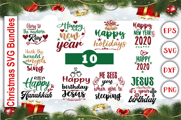 Christmas Bundle Graphic Print Templates By Graphics Cafe