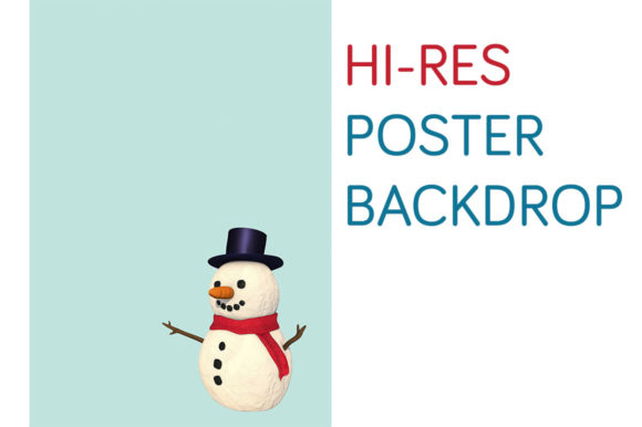 Print on Demand: Cute Snowman Poster Backdrop Graphic Illustrations By Milaski