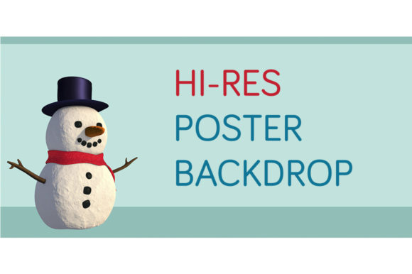 Print on Demand: Cute Snowman Poster Backdrop Gráfico Ilustraciones Por Milaski