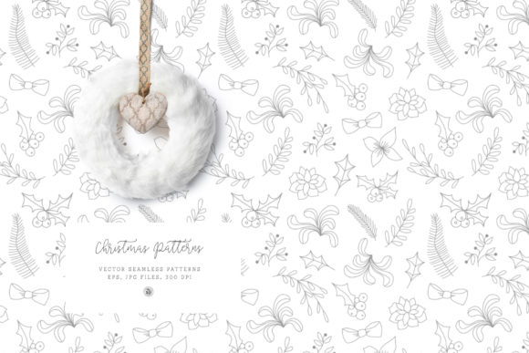 Download Free Christmas Patterns Vol 2 Graphic By Webvilla Creative Fabrica for Cricut Explore, Silhouette and other cutting machines.