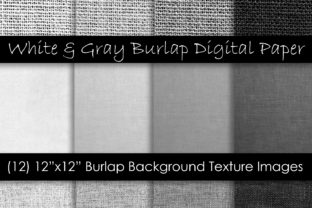 White & Gray Burlap Textures Graphic Textures By GJSArt