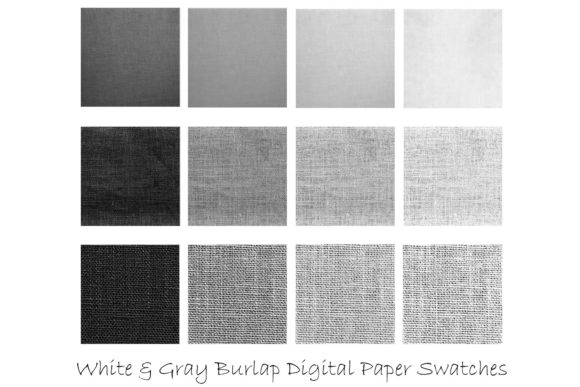 White & Gray Burlap Textures Graphic Textures By GJSArt - Image 2