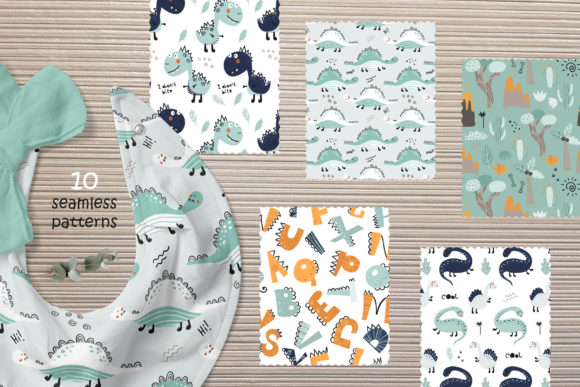 Download Free Cute Dinosaurs Grafico Por Nafanya Creative Fabrica for Cricut Explore, Silhouette and other cutting machines.