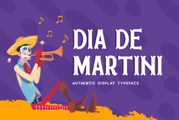 Print on Demand: Dia De Martini Display Font By Fype Co.
