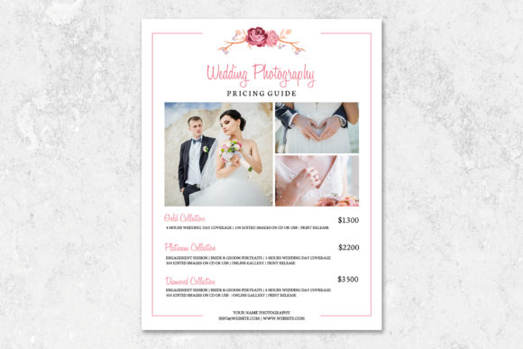 Wedding Photography Pricing Template Graphic Print Templates By DesignCafeArt