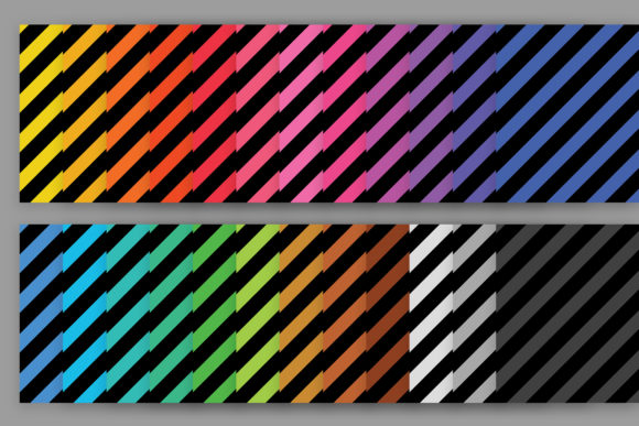 Print on Demand: Black Rainbow Seamless Stripe Patterns Graphic Patterns By Running With Foxes - Image 2