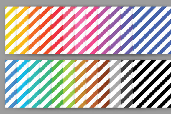 Rainbow Seamless Stripes Patterns Graphic Download