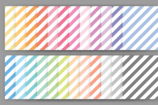 Print on Demand: Rainbow Pastel Seamless Stripes Pattern Graphic Patterns By Running With Foxes 2