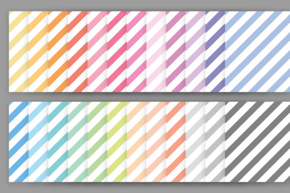 Print on Demand: Rainbow Pastel Seamless Stripes Pattern Graphic Patterns By Running With Foxes - Image 2