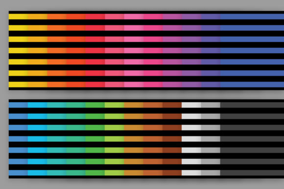 Print on Demand: Black Rainbow Seamless Stripe Patterns Graphic Patterns By Running With Foxes - Image 3