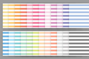 Print on Demand: Rainbow Pastel Seamless Stripes Pattern Graphic Patterns By Running With Foxes 3