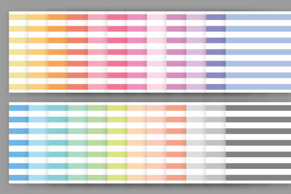 Print on Demand: Rainbow Pastel Seamless Stripes Pattern Graphic Patterns By Running With Foxes - Image 3