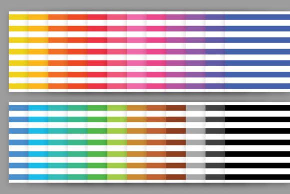 Rainbow Seamless Stripes Patterns Graphic Item