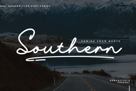Print on Demand: Southern Script & Handwritten Font By EmbunStudio - Image 1
