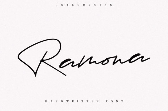 Print on Demand: Ramona Script & Handwritten Font By Katie Holland