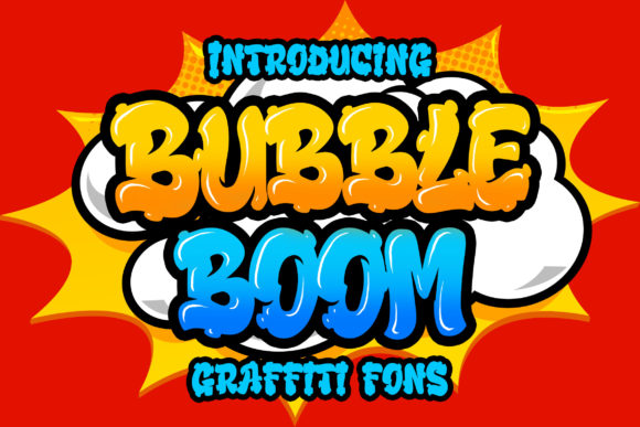 Print on Demand: Bubble Boom Display Font By Bangkit Setiadi