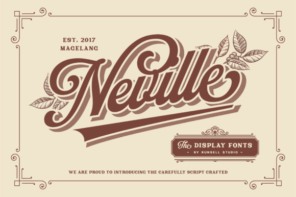 Print on Demand: Neville Display Font By Runsell Graphic