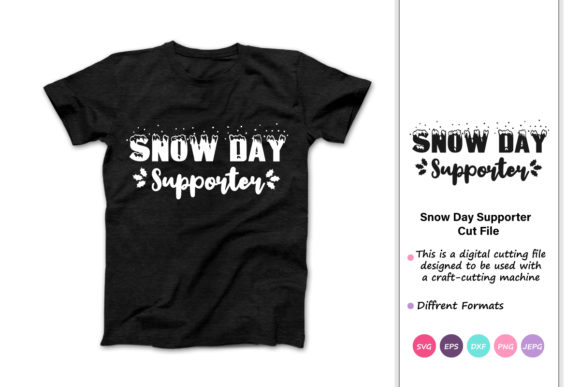 Download Free Snow Day Supporter Christmas Winter Graphic By Iprintasty for Cricut Explore, Silhouette and other cutting machines.