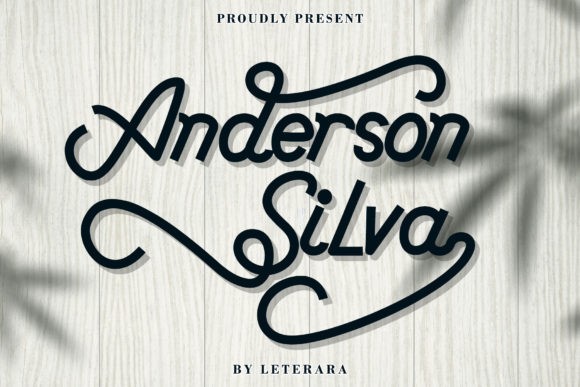 Print on Demand: Anderson Silva Script & Handwritten Font By thomasaradea