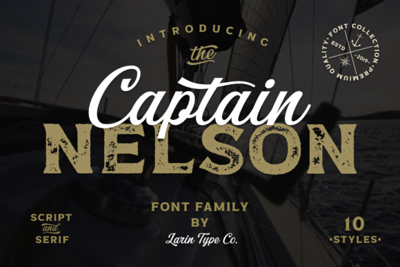 Print on Demand: Captain Nelson Display Font By Pasha Larin