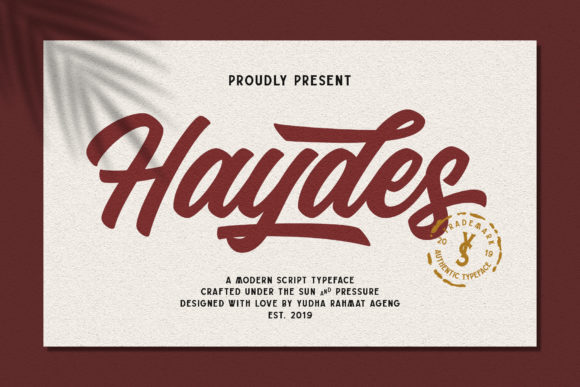 Print on Demand: Haydes Script & Handwritten Font By YdhraStudio