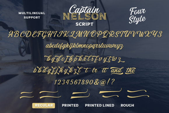 Print on Demand: Captain Nelson Display Font By Pasha Larin - Image 14