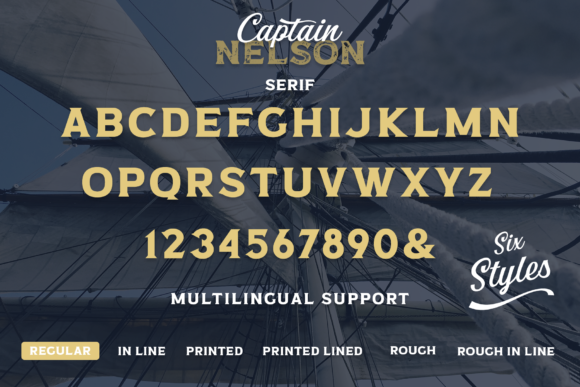 Print on Demand: Captain Nelson Display Font By Pasha Larin - Image 15